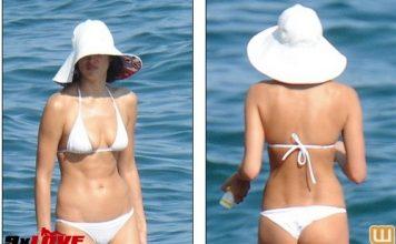Irina Shayk mặc bikini gợi cảm, nhăn nhó vì nắng gắt